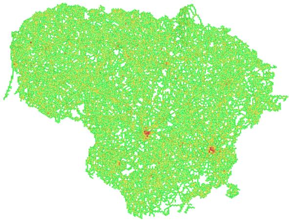 Lietuvos kelių koncentracija