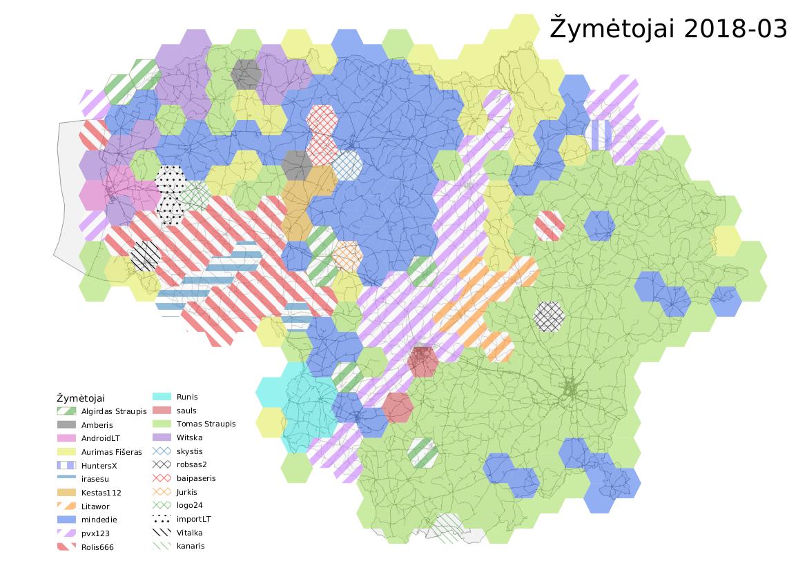 Lietuvos žymėtojai 2018-03