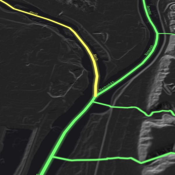 Stambus upių baseinų žemėlapis